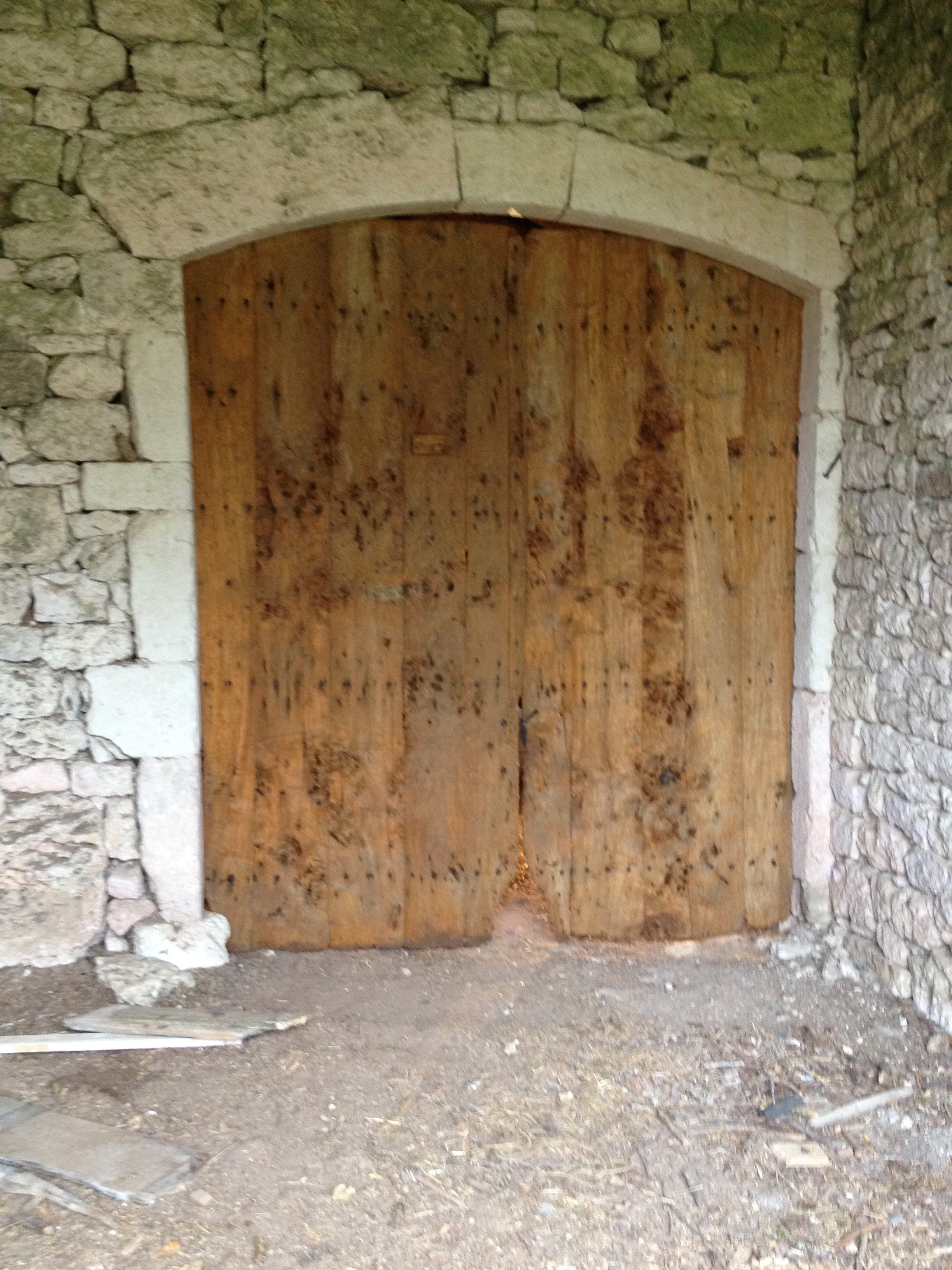 The barn doors.