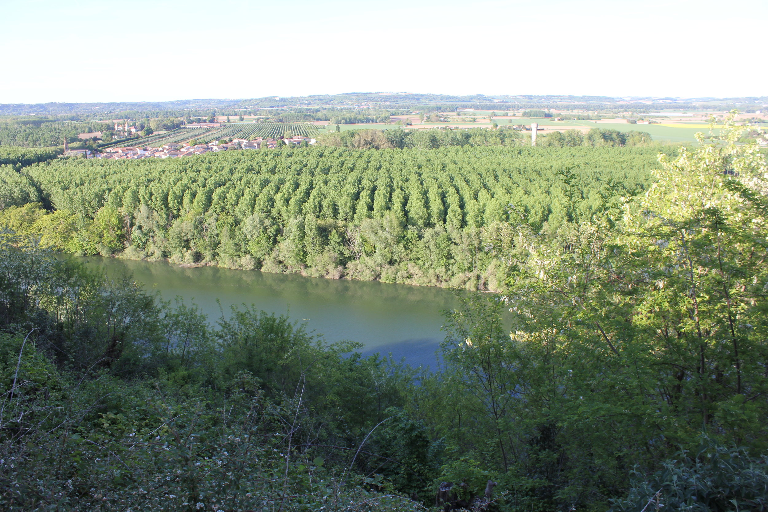 The view of the River Garonne from Auvillar.