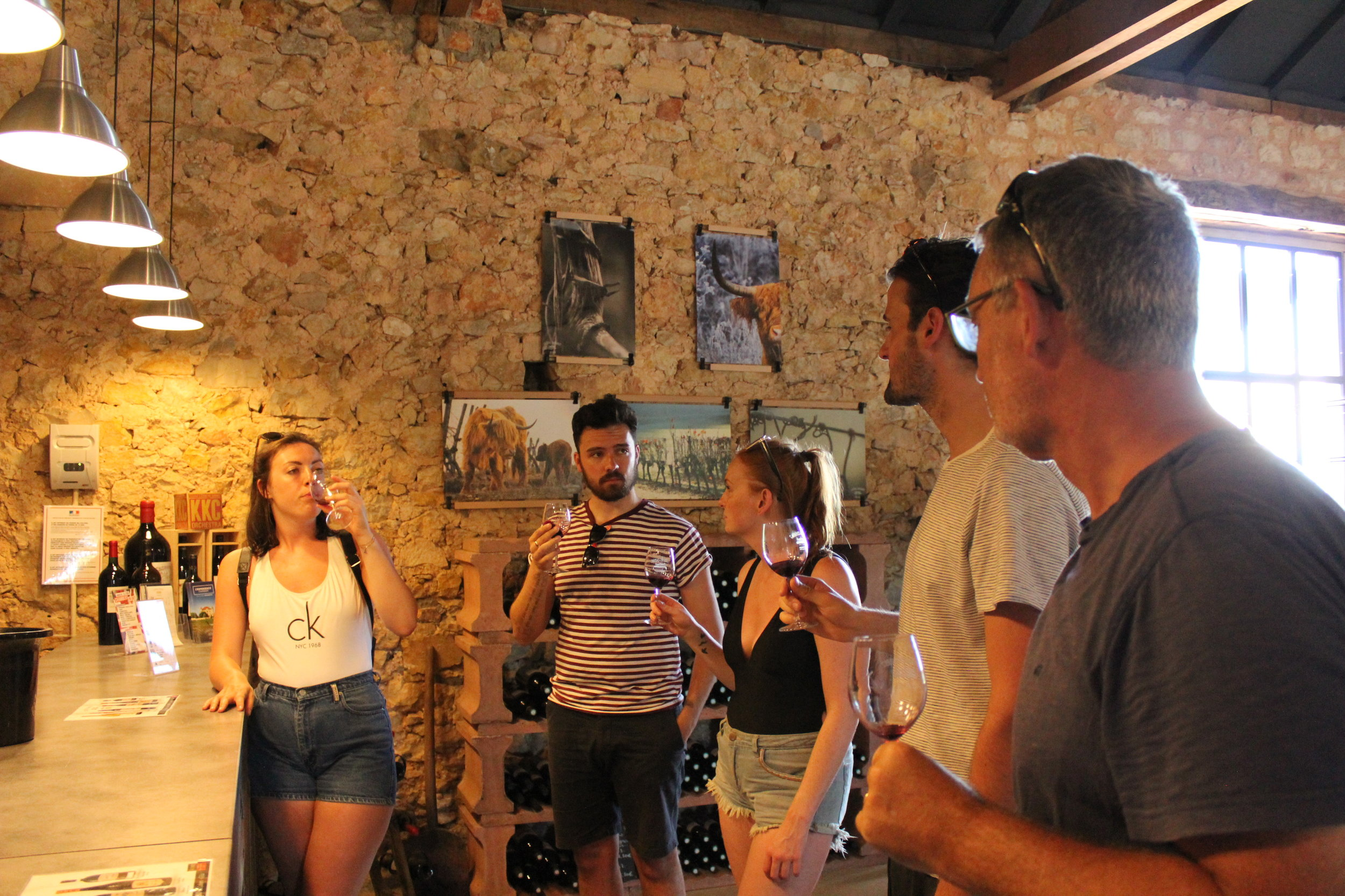 Wine tasting at Chateau Chambert