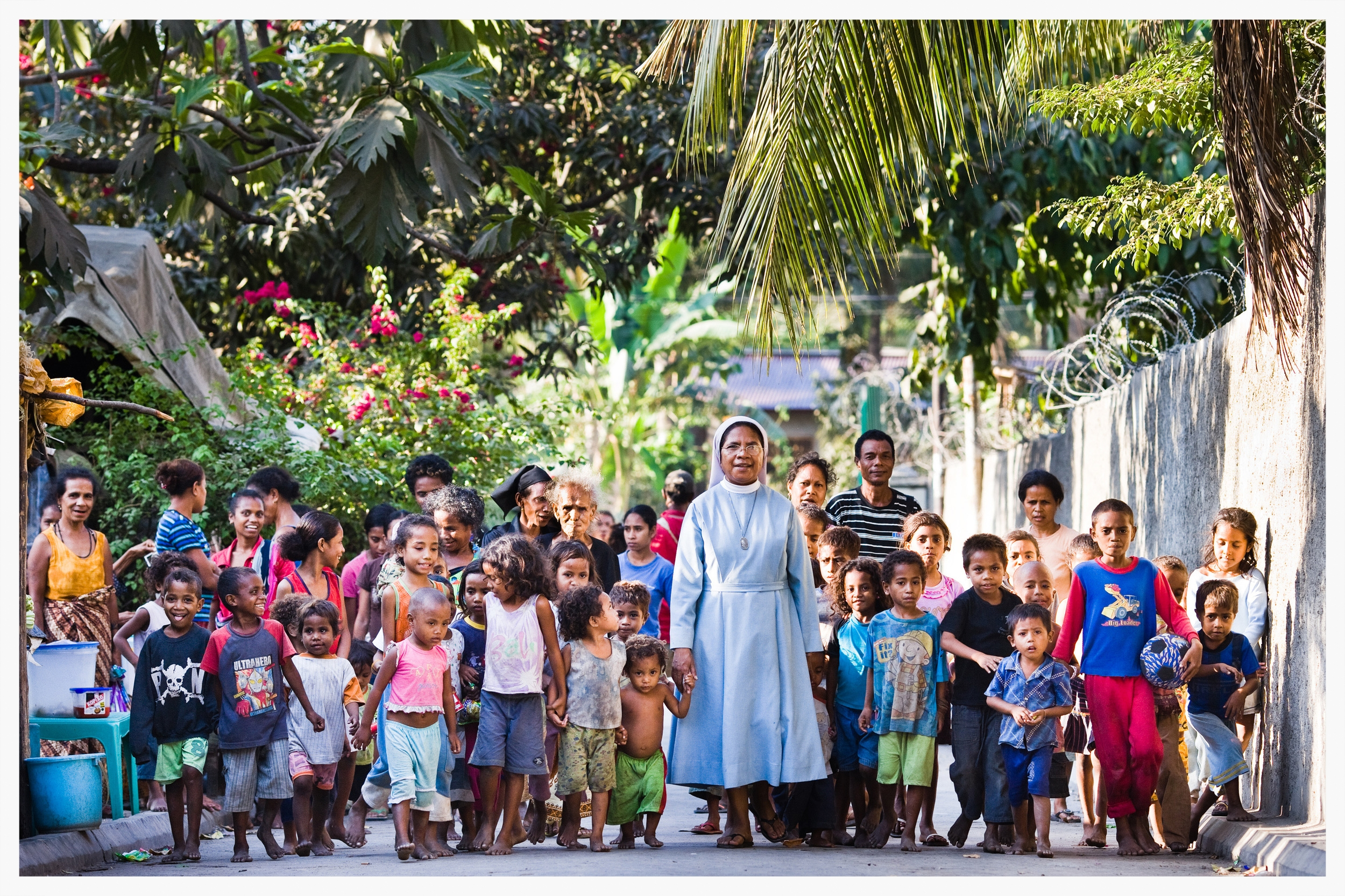 Sister Guilhermina Marcal at the Canossian Convent at Balide in Dili,East Timor.Photo: © Marcus Perkins
