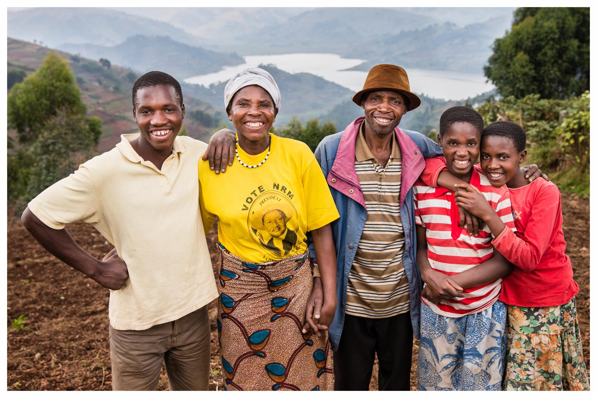 The Milton Byamukama Simon family, Kabale, southwest Uganda. Photo © Marcus Perkins