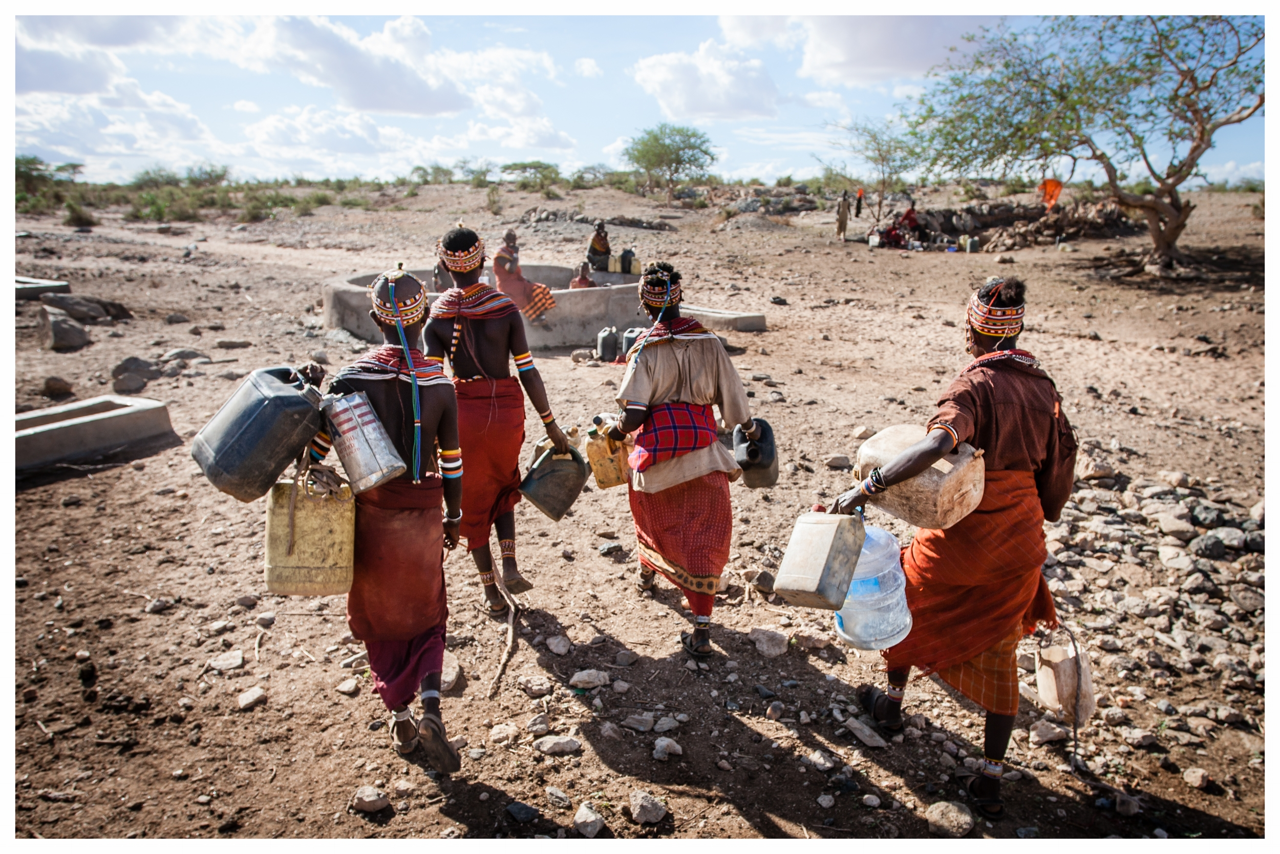 Rendille tribeswomen on their way to collect water near Korr Northern Keyna. Photo © Marcus Perkins