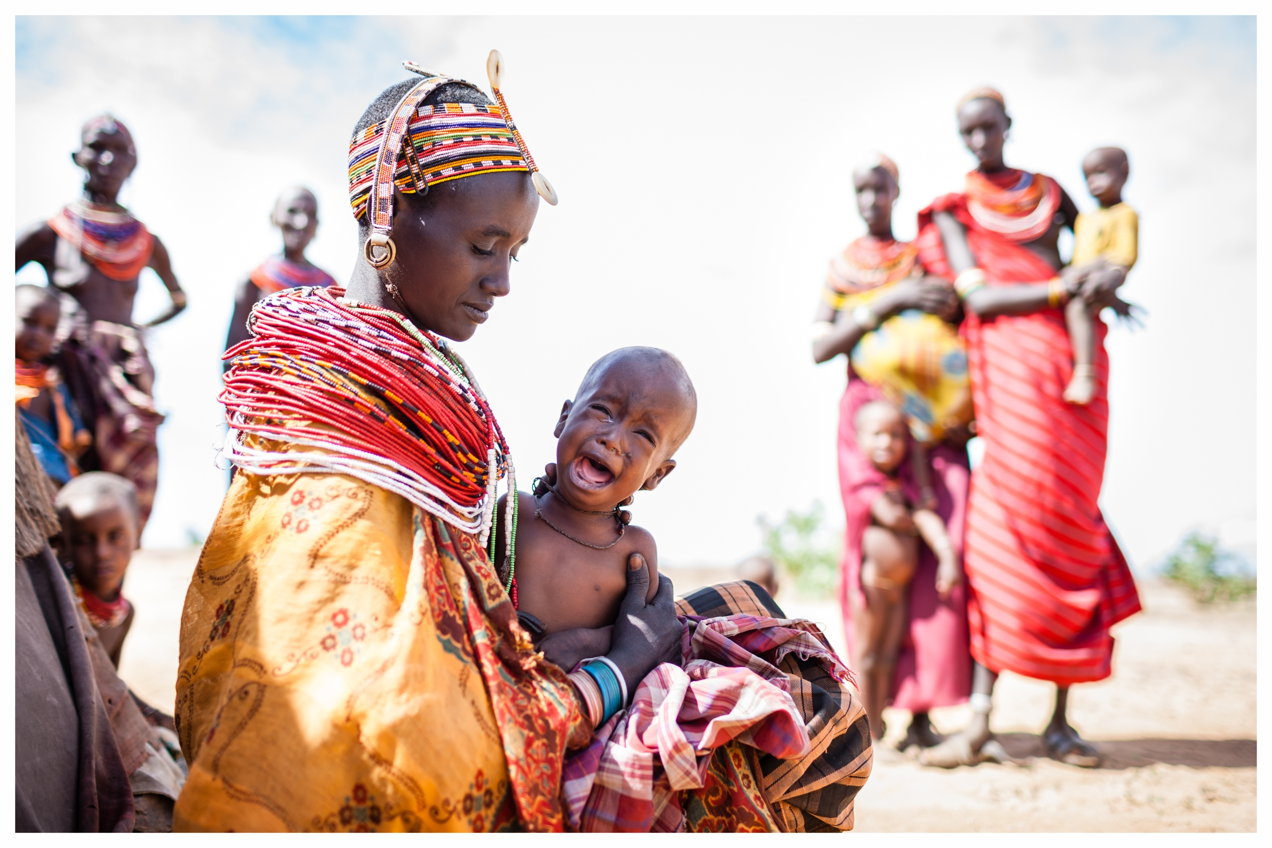 Rendille tribeswoman, Nkoror Galangan with her child Diboya. Marsabit, Northern Kenya. Photo © Marcus Perkins