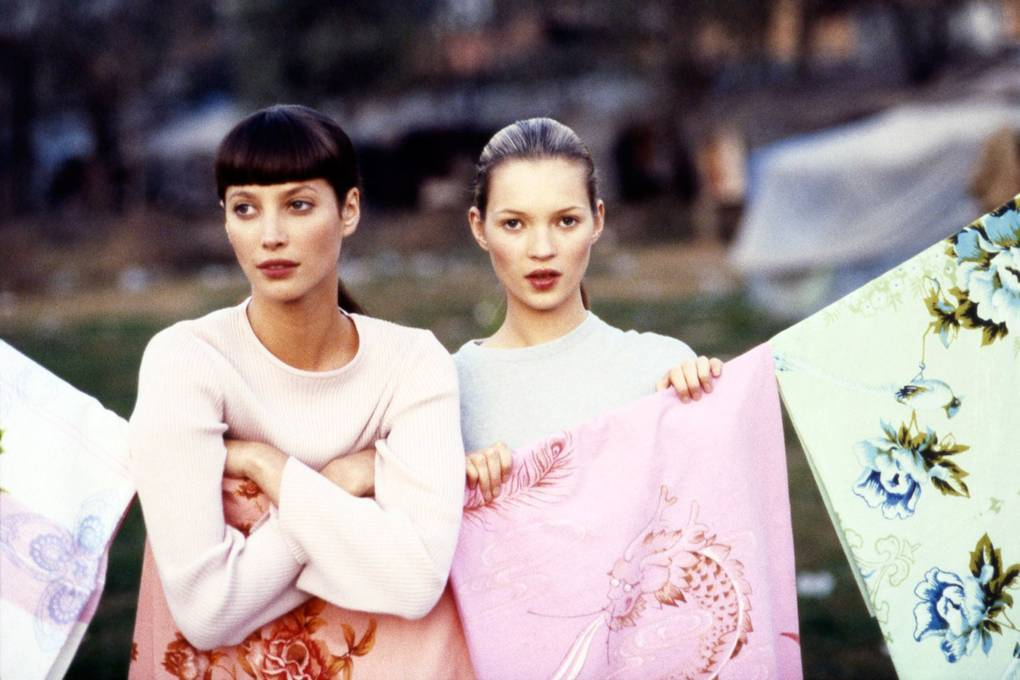 Vogue June 1994 - Christy Turlington & Kate Moss by Arthur Elgort