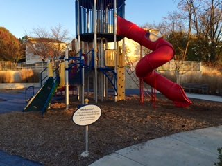 Long and winding road….entry way and pathways into the park will be part of the improvement plan. The playground and equipment were part of Phase 1 improvements.