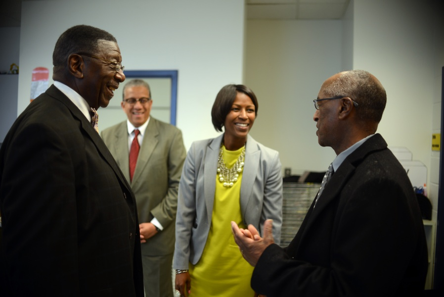 Pictured (left to right): Dr. Alfred Taylor, Lacy Ward Jr, Kimberley Graves, Michael Jones – Photo by Pat Jarrett