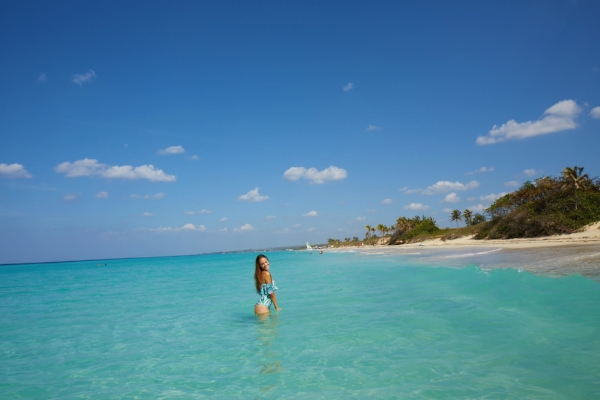 Enjoying the sun and crystal clear waters just 12 mi. East of Habana Vieja