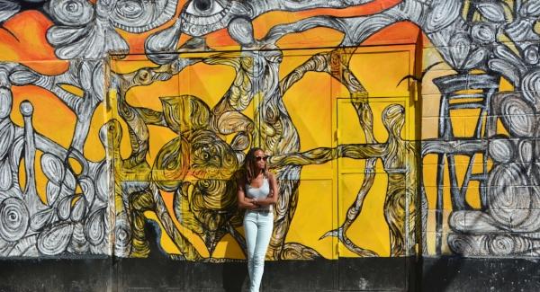 Wall mural along el Callejón de Hamel | photo by Aisha Sylvester via  Island Girl In-Transit