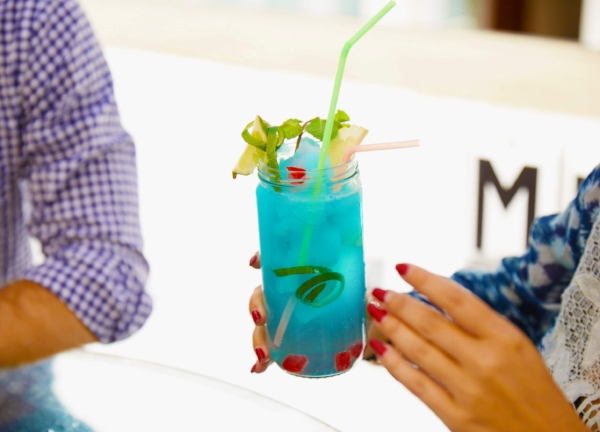 Colorful cocktails at El Del Frente