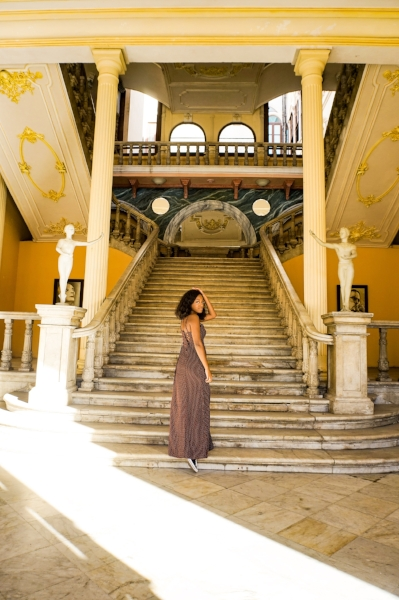 Striking a pose at the historic La Guarida