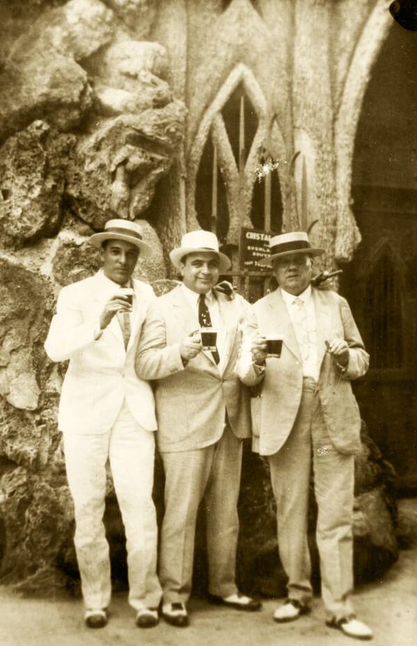 Fritz Gordon, Al Capone and Julio Morales, Mayor of Havana | Cuba, 1930