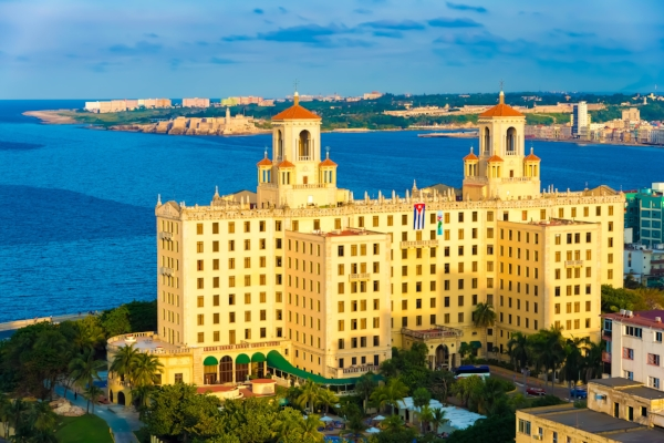 The Hotel Nacional, an icon overlooking the bay of Havana