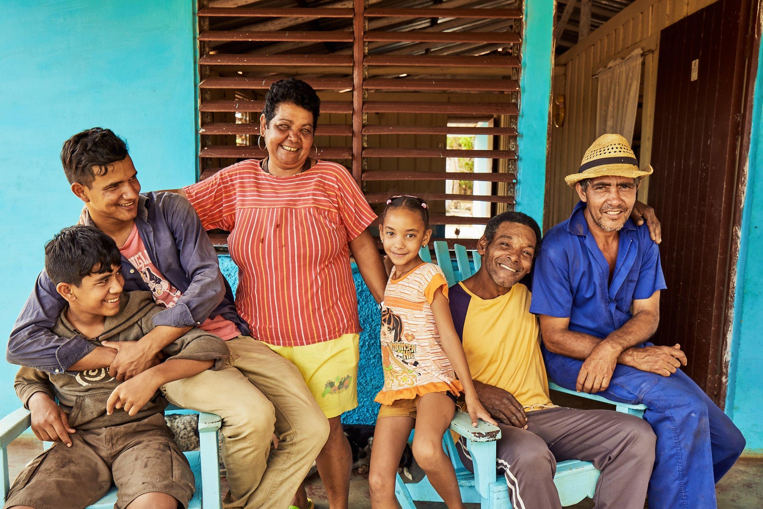 Familia Cubana (Cuban family) in Viñales, Cuba