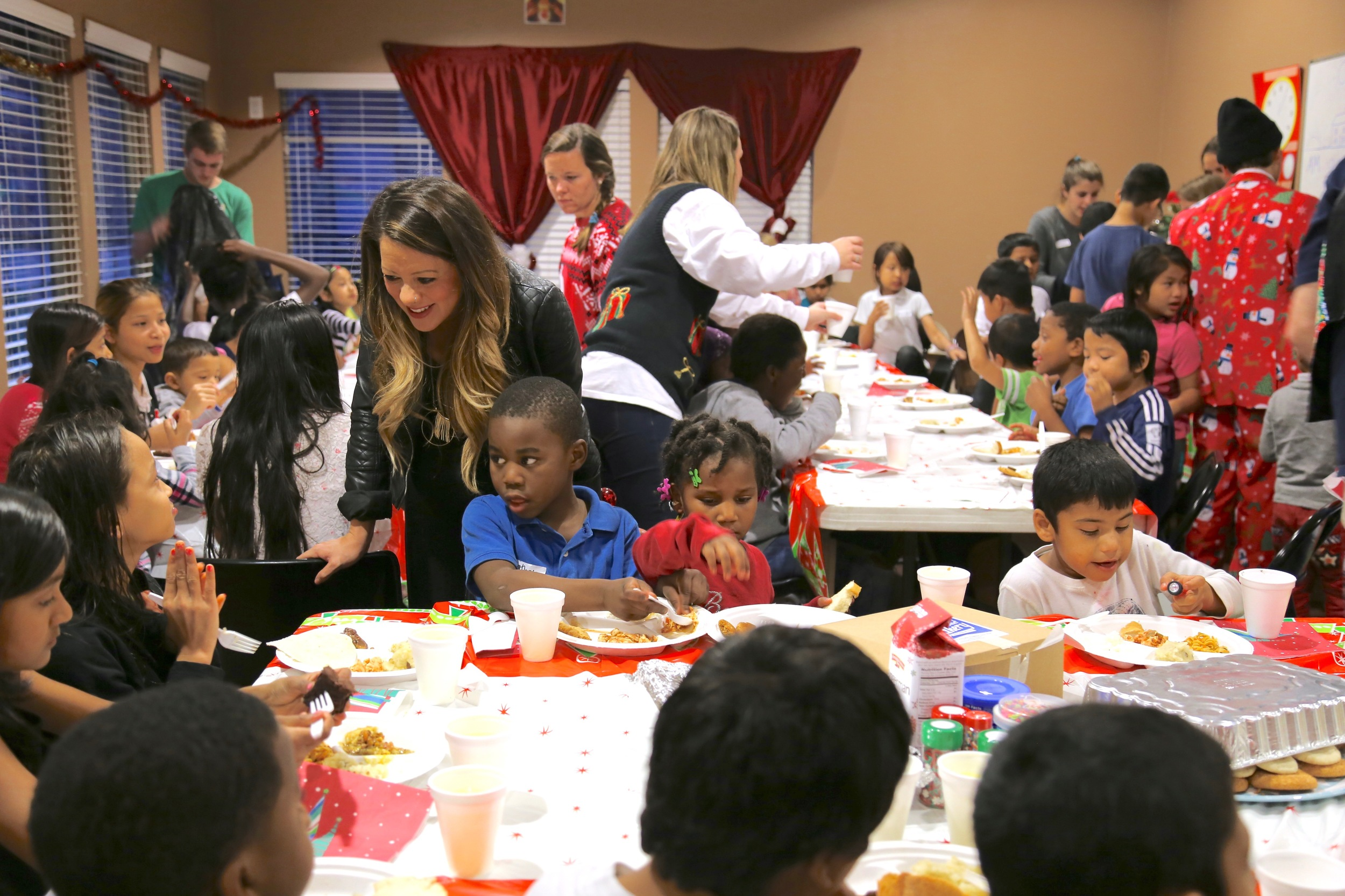 Our kids' program's annual Christmas party