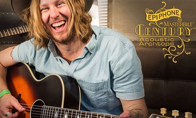 Look who was in an advertisement for the new #Epiphone master built Century guitars :)