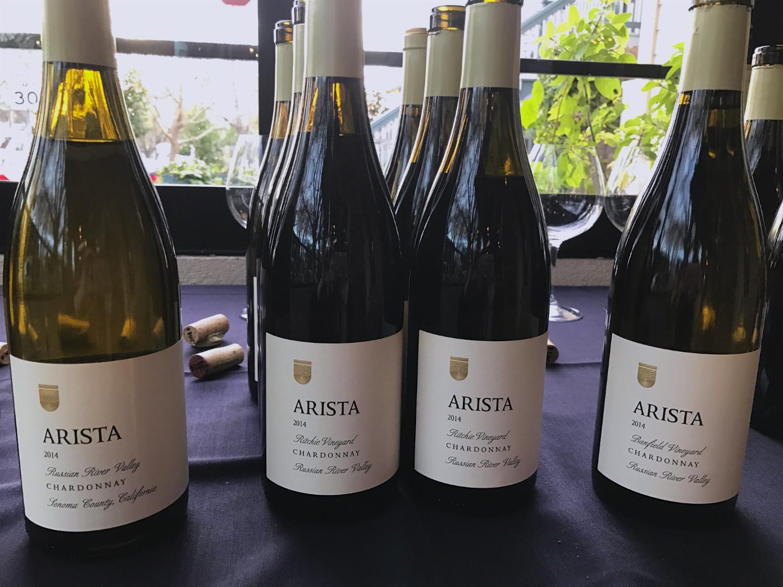 Arista Chardonnays on the menu