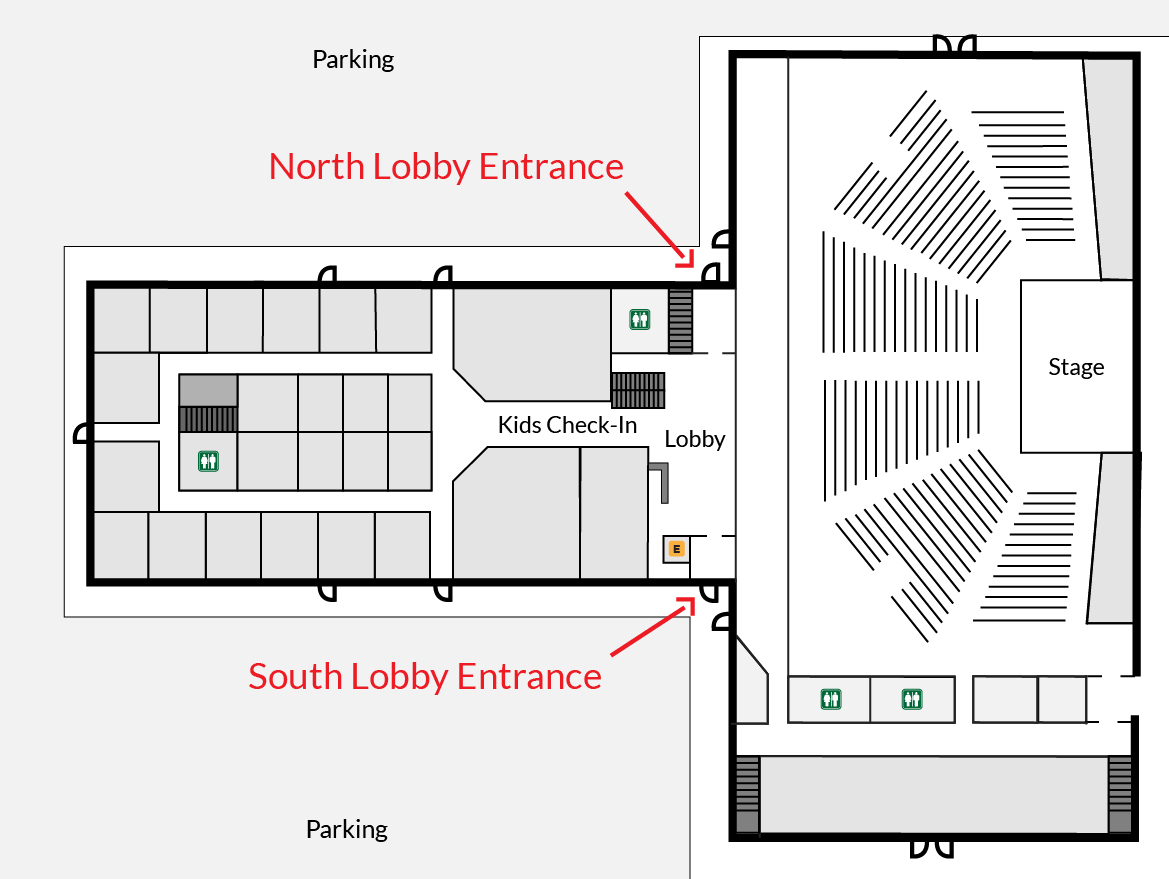 If you're a visitor, please use the Northwest or Southwest Lobby entrance and visit Connection Central in the Lobby.