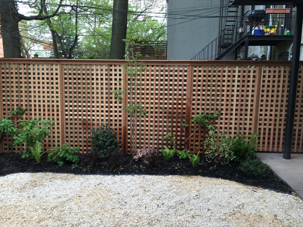 New fence allows air flow while maintaining privacy