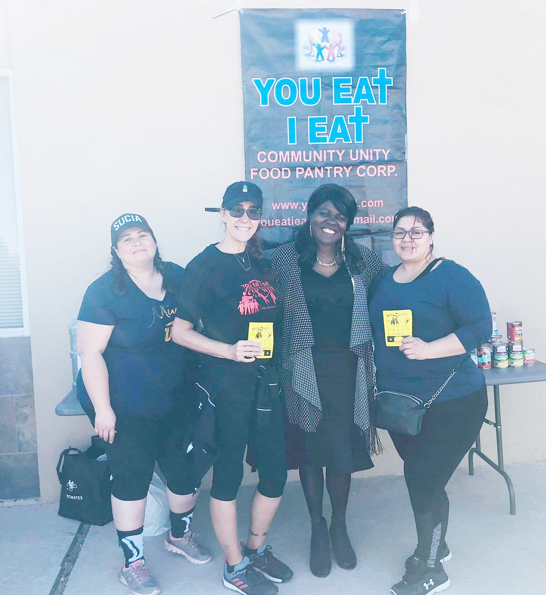 The El Paso Roller Derby Team. These ladies have great in Food Drives and Fund Raising efforts. Without your and the help of those of like mind the Pantry shelves could not be restocked. Thanks, guys!