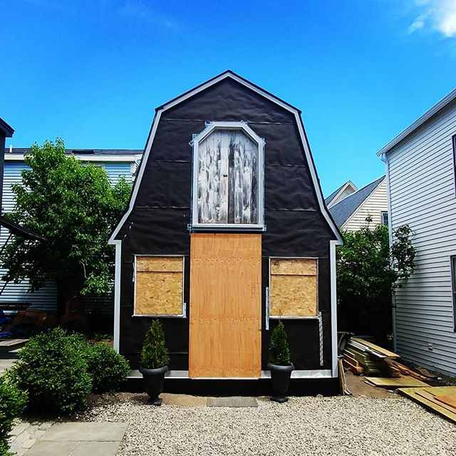 We get to do some good stuff.  #newproject #comingsoon #tinyhouse #munjoyhill #allblack