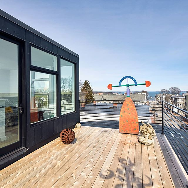 The roof deck at our Munjoy Hill condo project was made for summer days like these. 📸: @mwphotographic for @decormaine . . . . . . . . . #summer #maine #asagormanbuilder #customhome #portlandmaine #renovation #mainehome #residentialarchitecture #carpentry#customwork #interiordesign#custombuilding #fabrication#design #custom#modern #architecture #handbuilt#roofdeck