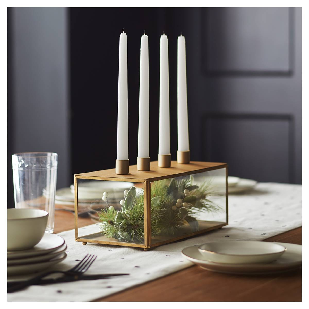 Ok, I kind of love this taper candleholder! It will be great for the holidays filled with greenery, but you can mix it up the rest of the year with other things.