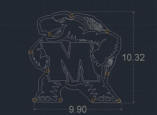 3D Custom Metal Business Signage - Design in AutoCad