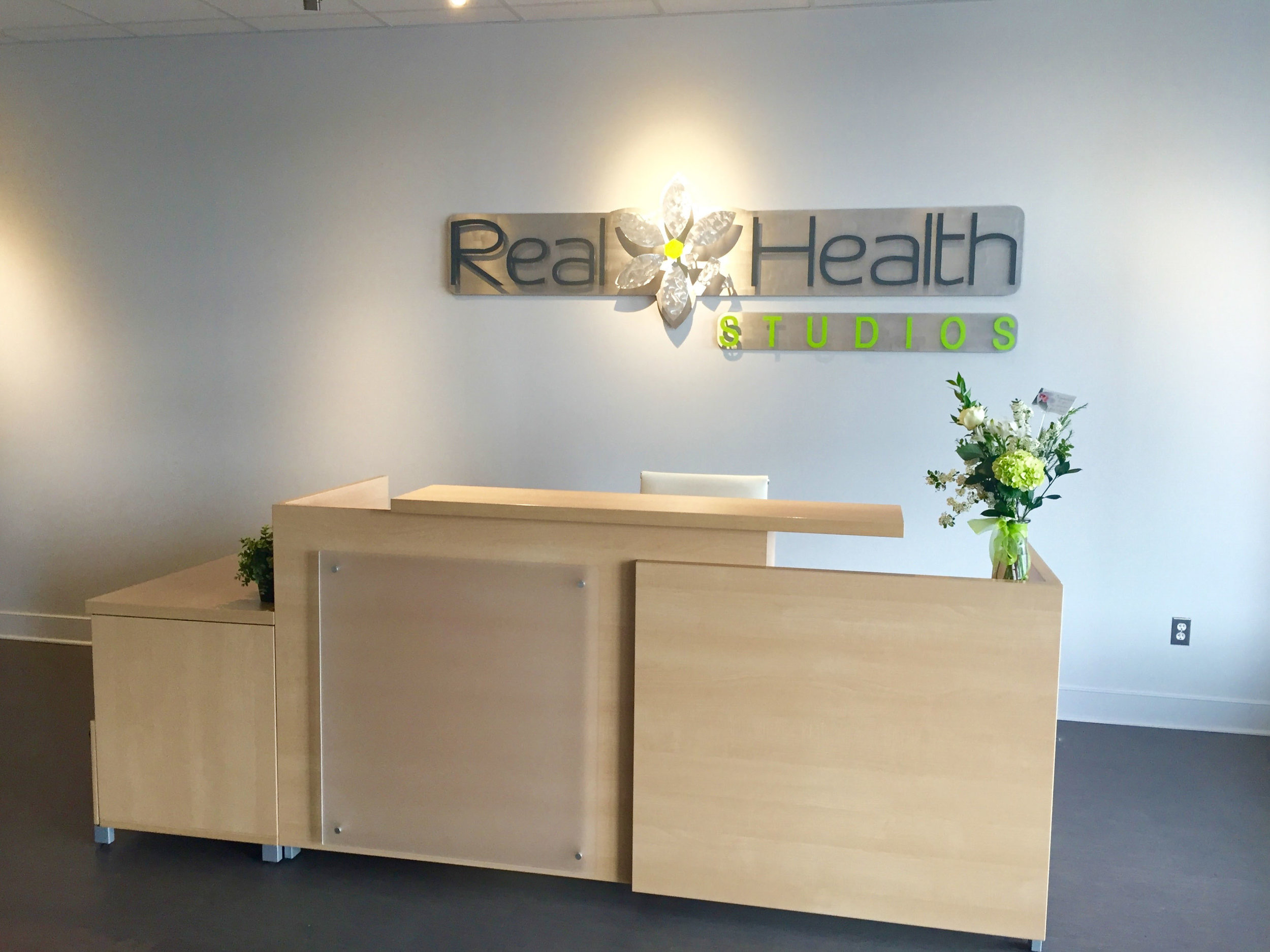 Custom Office Metal Sign - Real Health Studios Frederick MD