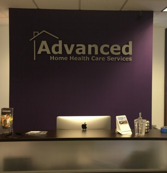 ShieldCo Art - 3D individual metal office sign for Advanced Home Helath Care Services