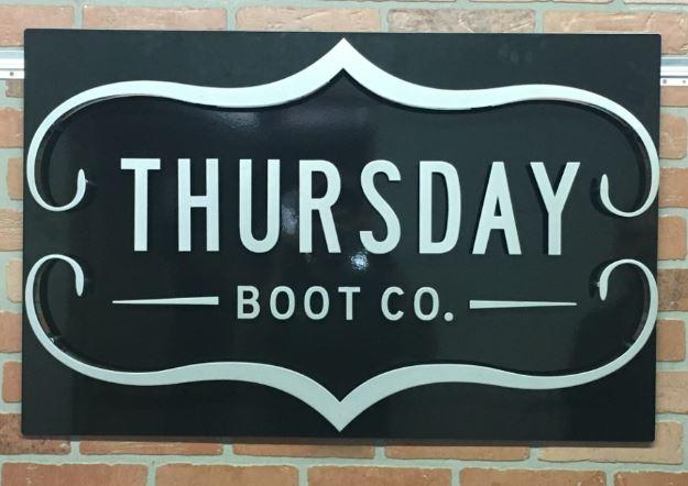 Thursday Boot Co - Custom Metal Sign.JPG