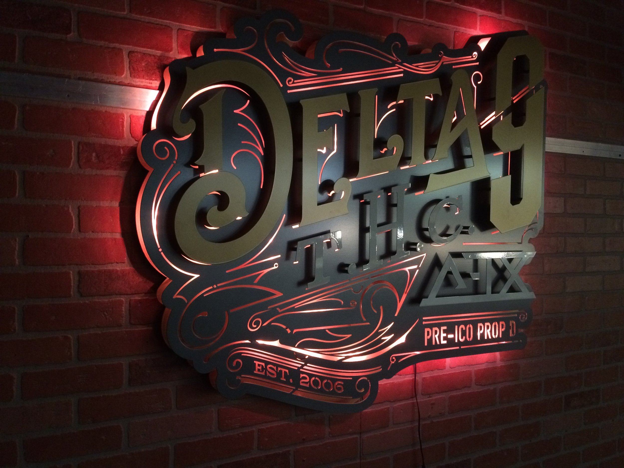 Custom Metal Sign-Delta 9-left lit.JPG