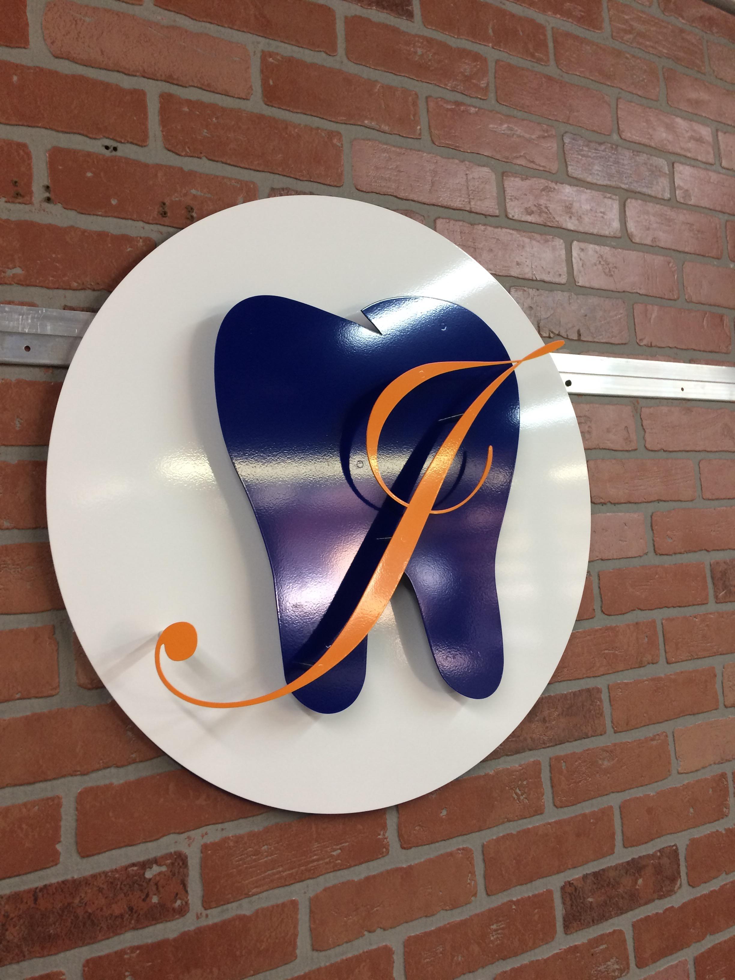 Custom Metal Sign-Jennifer H. Johnson DMD-left.JPG