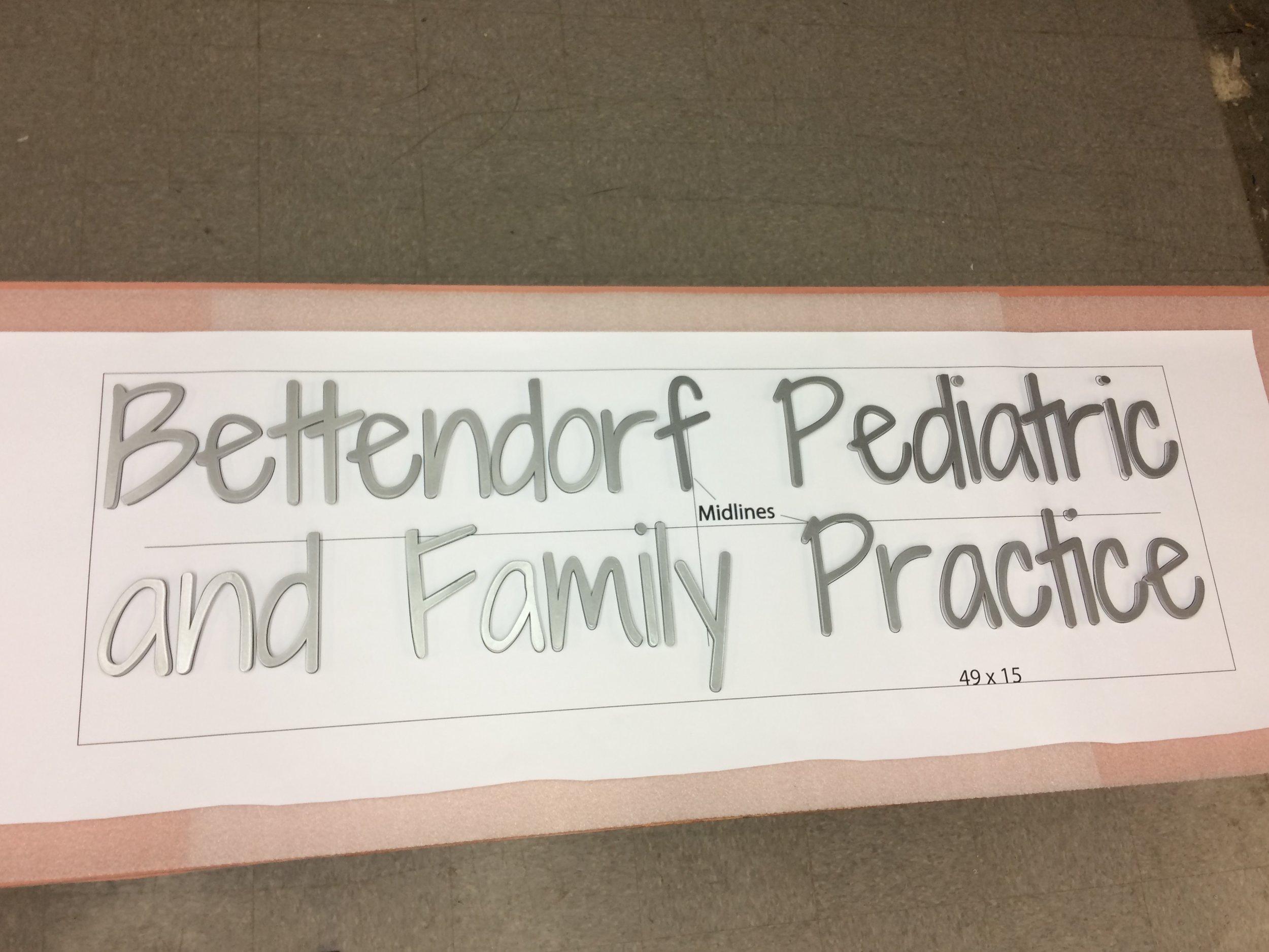 Custom Metal Sign-Bettendorf Pediatric-left.JPG