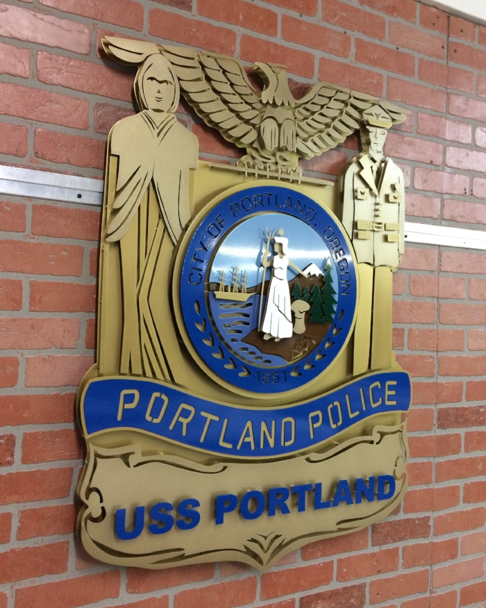 Portland Oregon's City Seal Gifted to the USS Portland during it's Commissioning