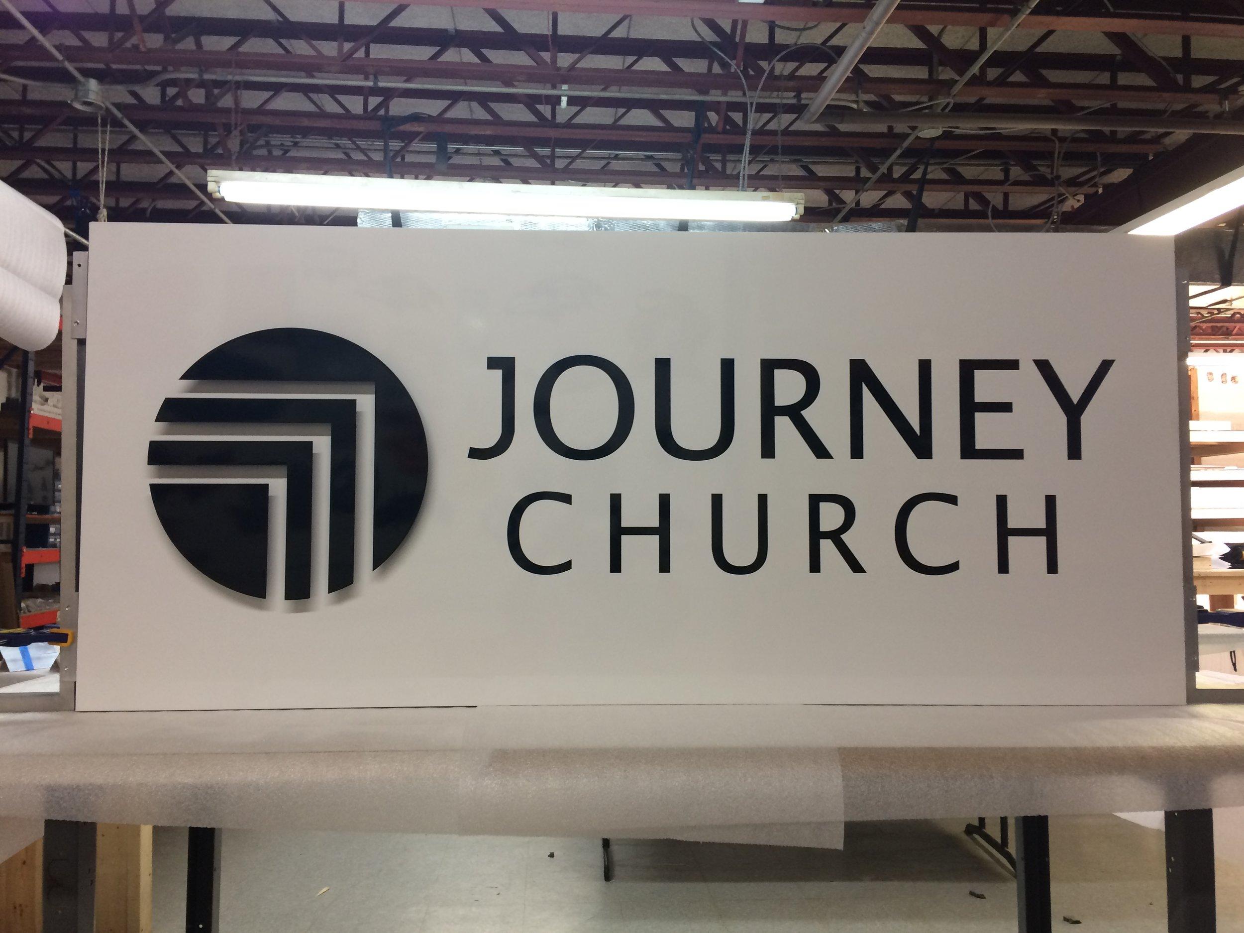 Custom Metal Sign-Journey Church-Front.JPG