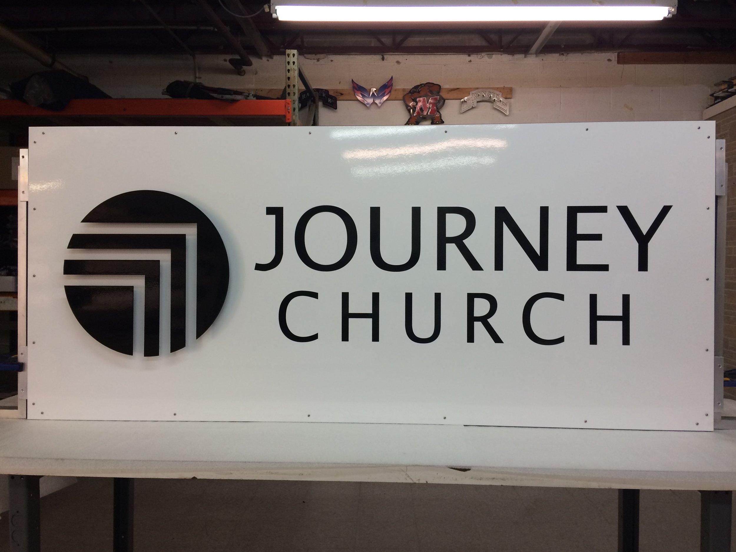 Custom Metal Sign-Journey Church-Back.JPG