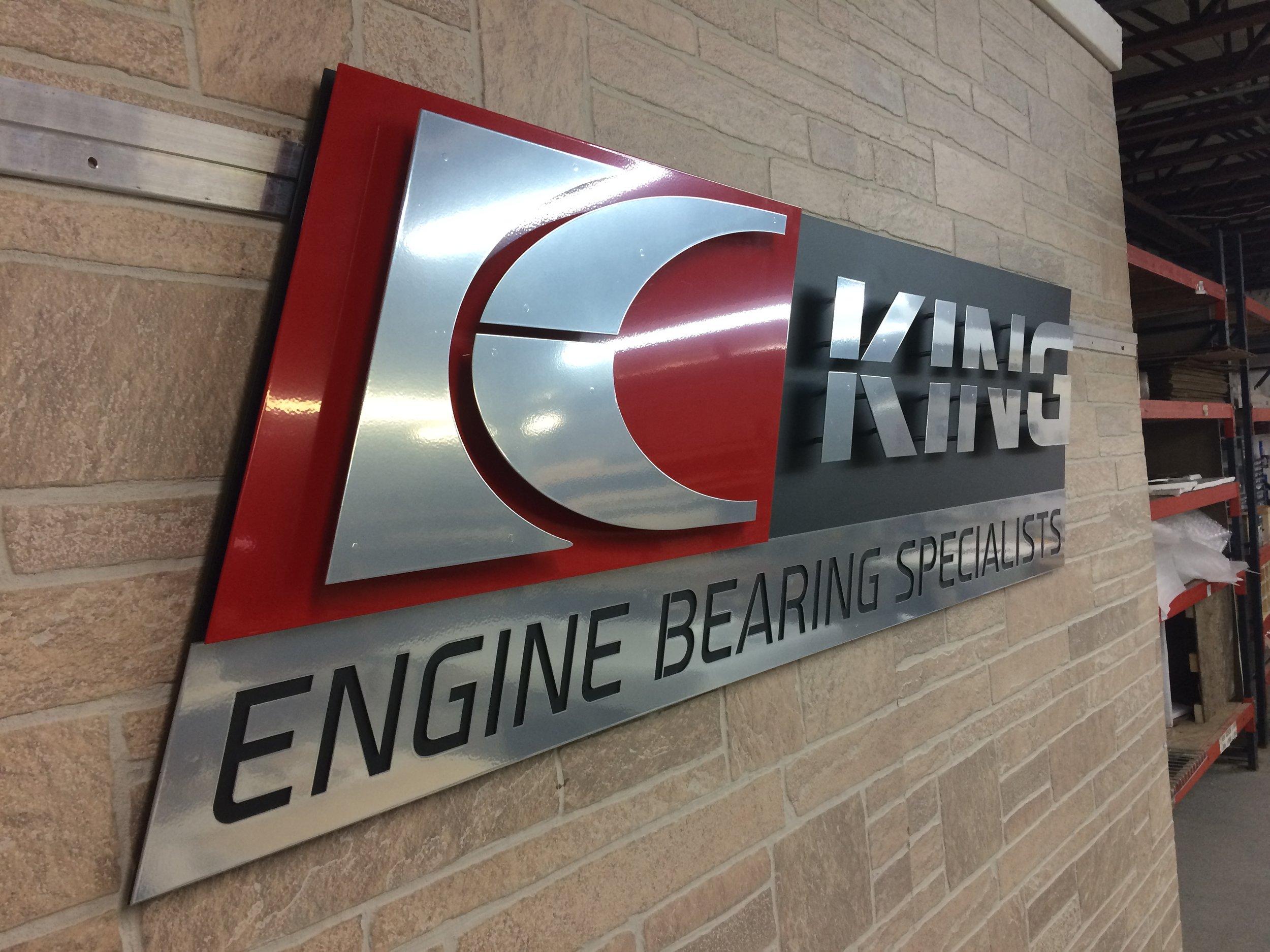 Custom Metal Sign-King Engine Bearings-Left.JPG