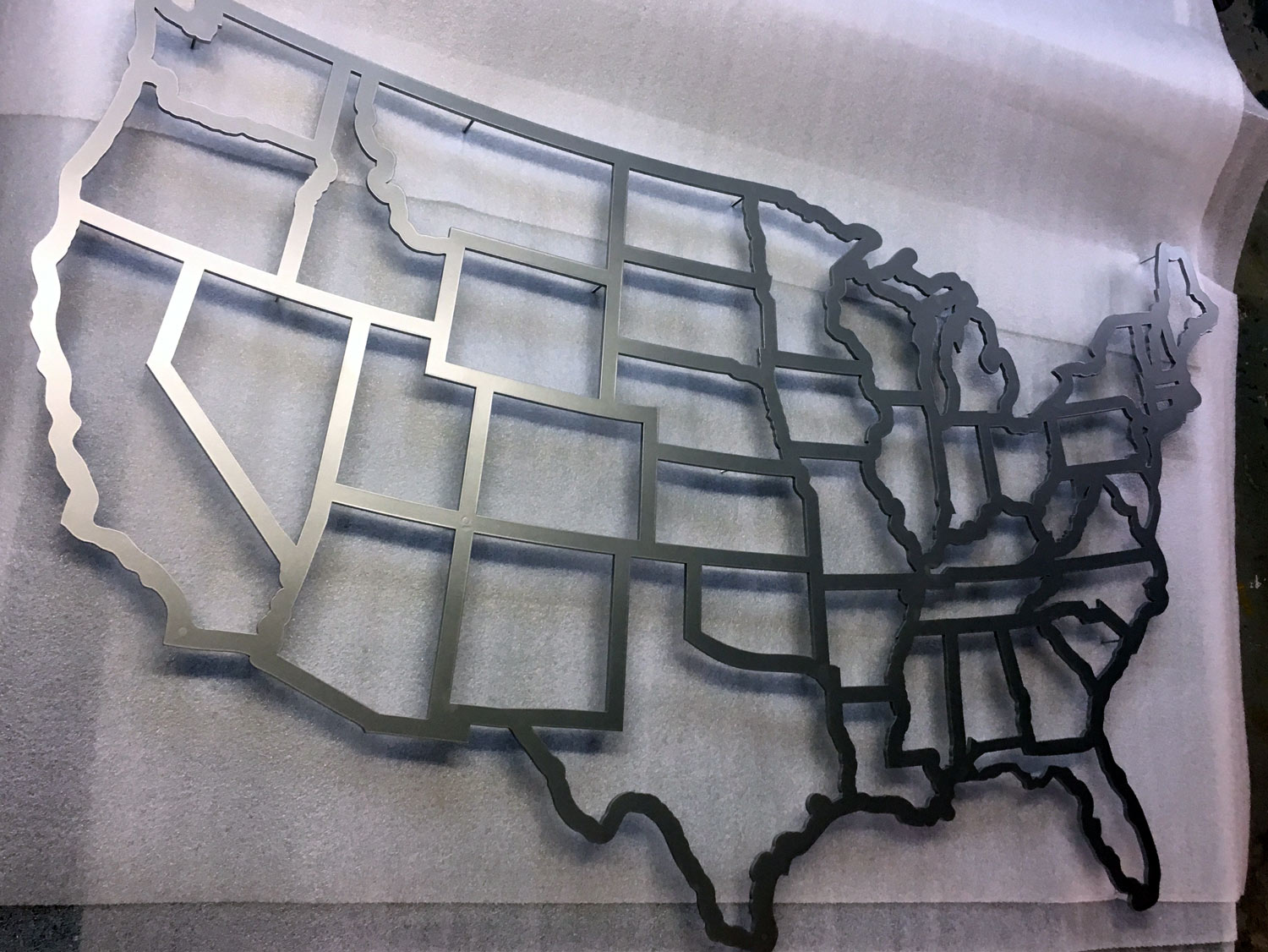 Single Layer Cutout of the United States