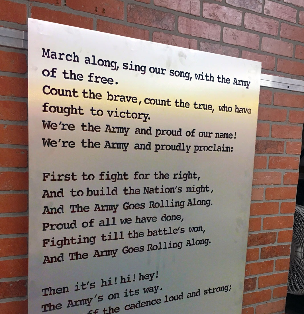 Single Layer Army Fight Song