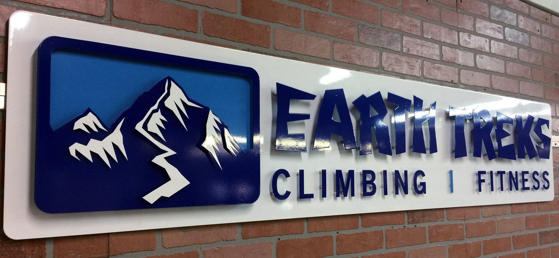 Three Dimensional Multi Layer Metal Sign for Earth Treks