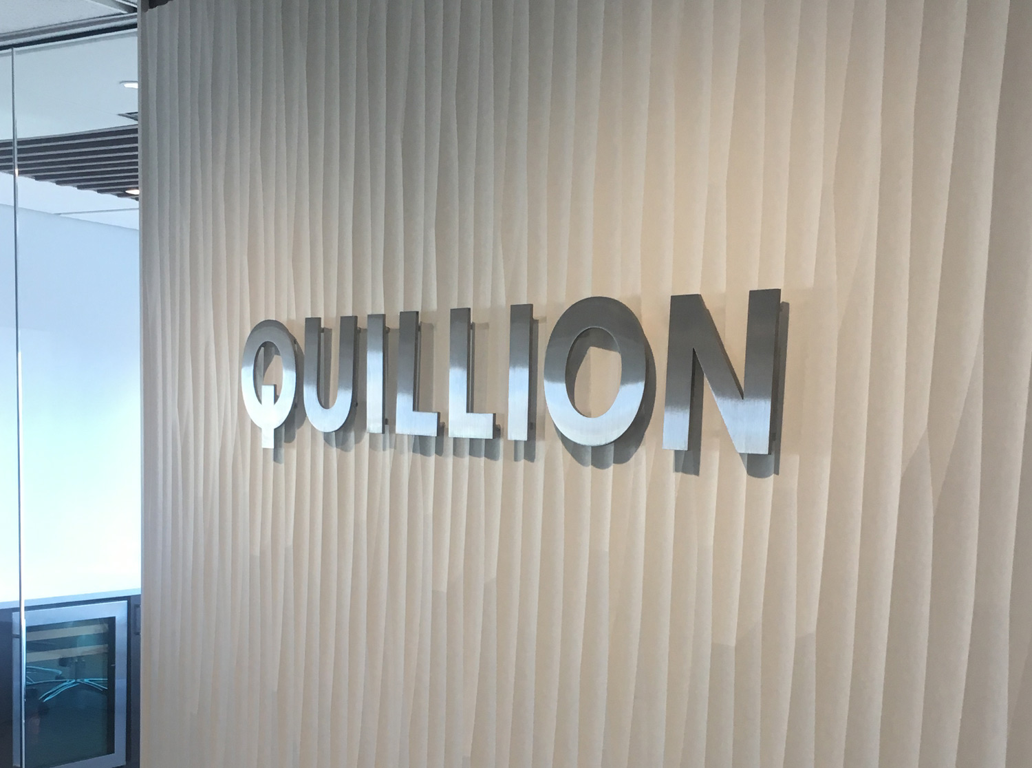Stainless Steel Letters for Quillion Wealth Management in Baltimore Maryland