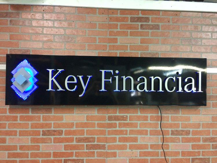 8 - Custom Metal Sign Key Financial Group frontlit.jpg