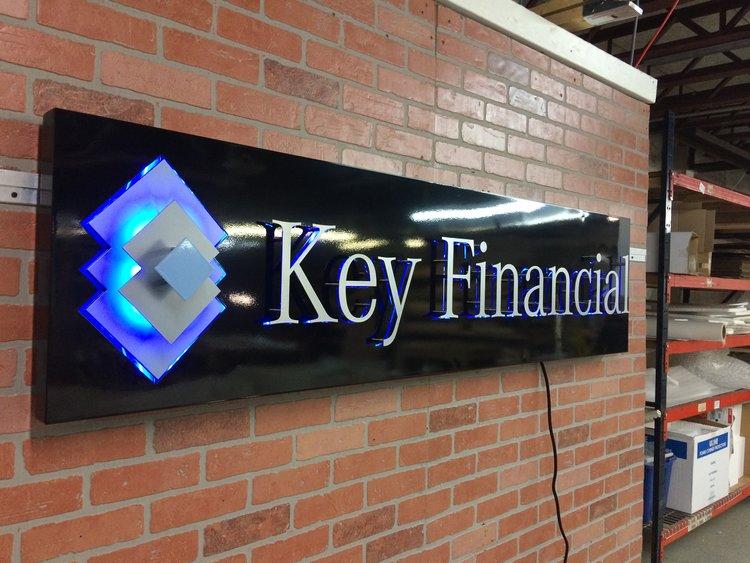 8 - Custom Metal Sign Key Financial Group frontlit 2.jpg