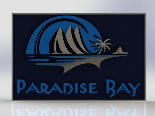 We created a 3D mockup in Solidworks to show how the sign would look in REAL life
