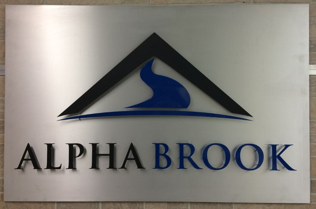 1 - Aluminum - Custom Metal Sign - Alpha Brook (snip).JPG