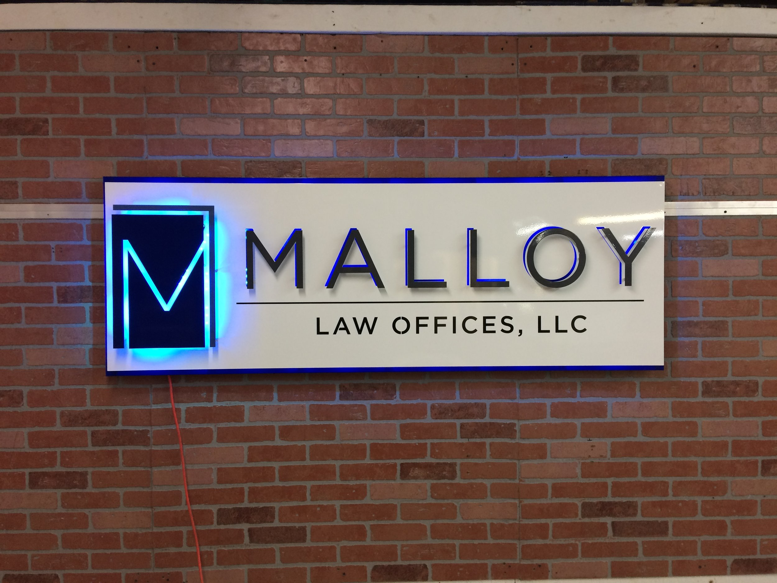 Custom Metal Sign- Malloy Law- Front-lit.JPG