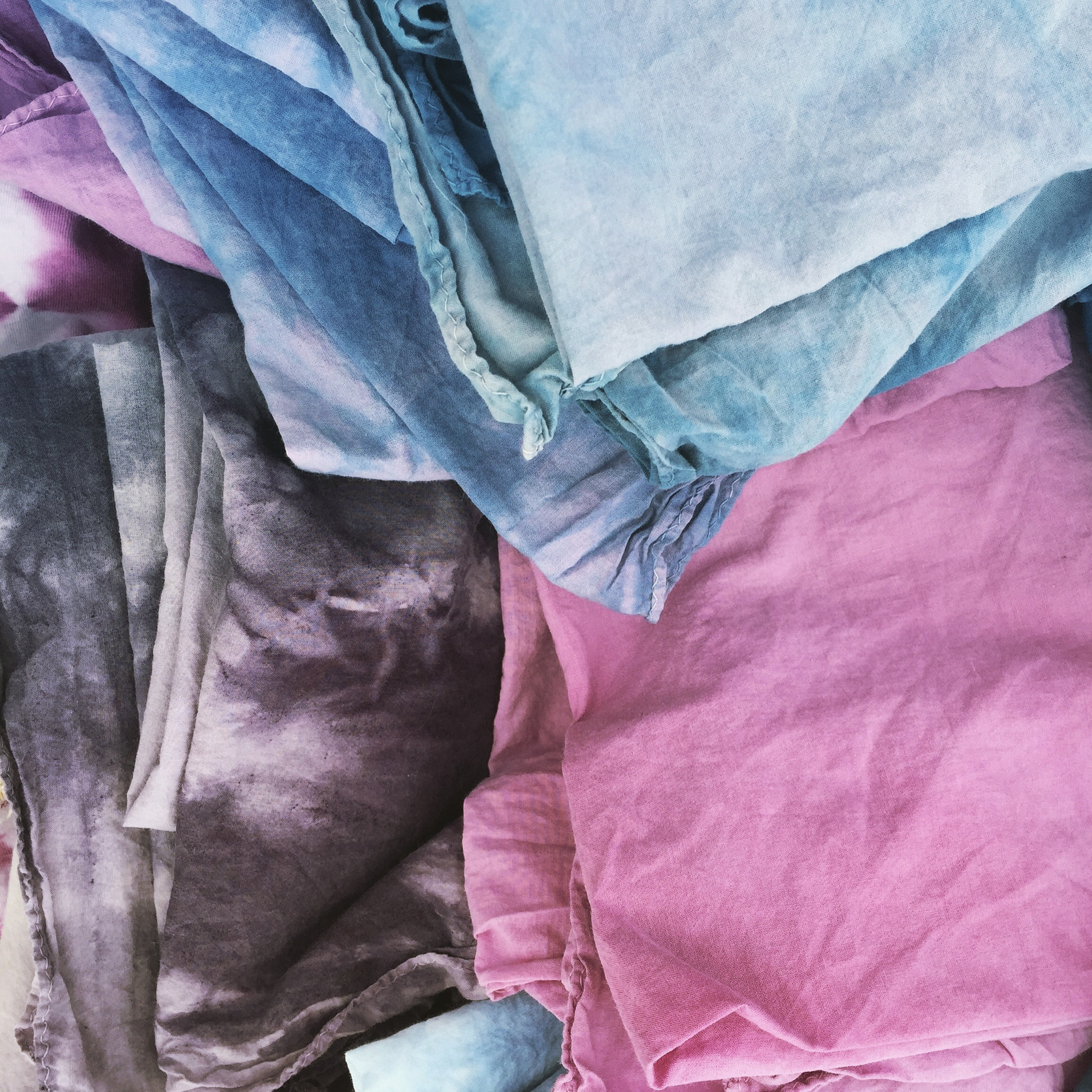 Hand-dyed cotton scarves