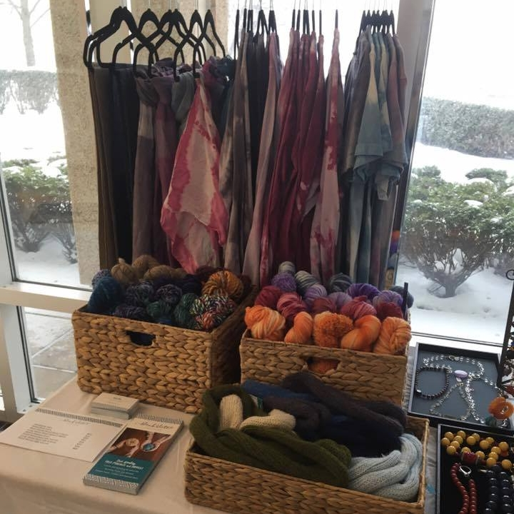 Our set-up for the winter holiday fair at Basset Hospital, Cooperstown.