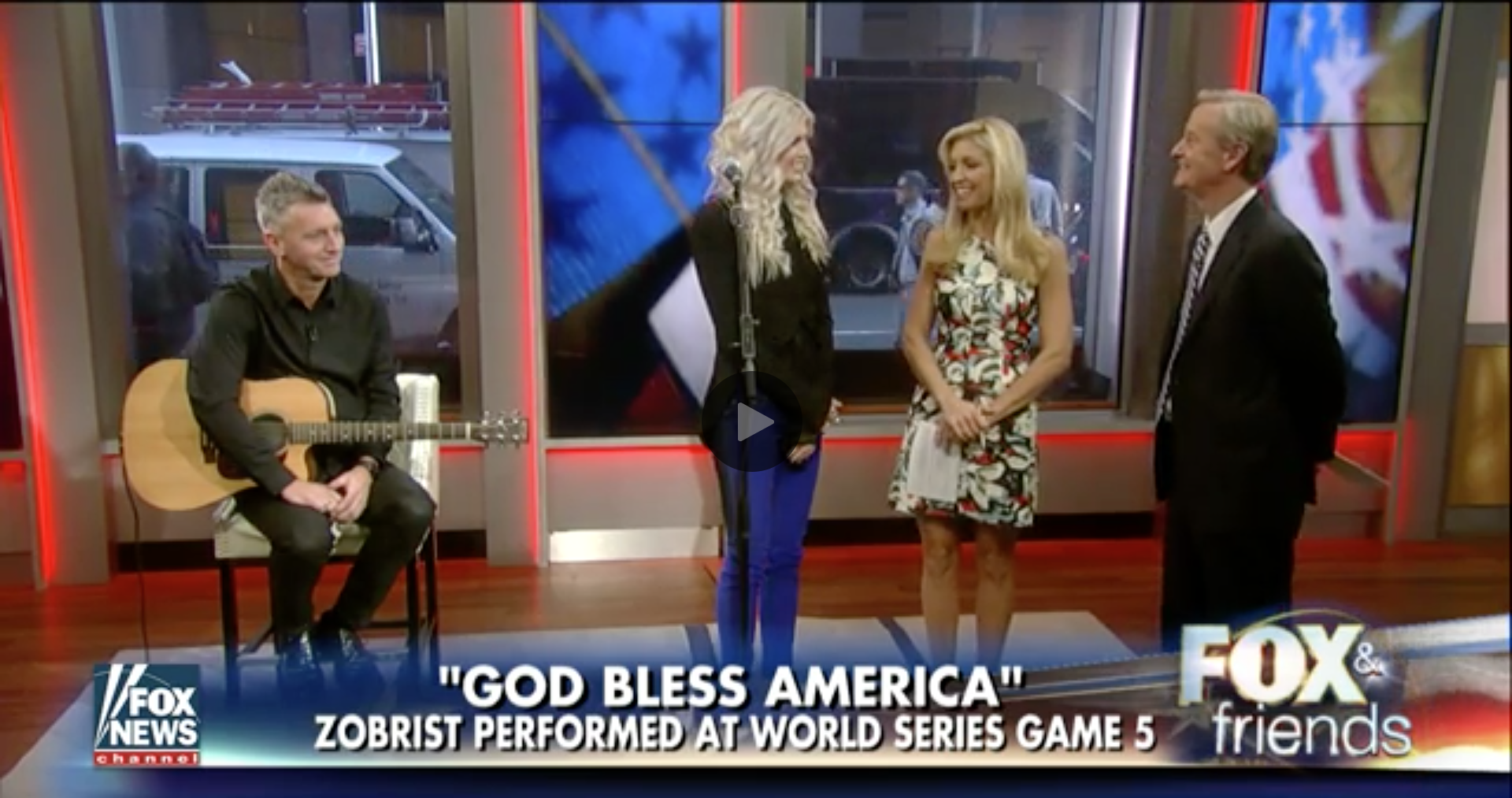 Julianna Zobrist performs God Bless America on FOX & Friends.