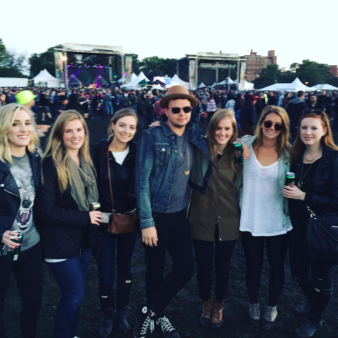Dean and all the ladies at Riot Fest. I am wearing a $5 wolf tshirt I got at Walmart which is my new fav. Full disclaimer: I stole this picture off my friend's Instagram.
